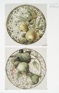 China Painting #2 [depicting pears and apples].
