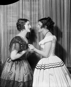 Joyce Carey as Arabel and Margaret Barker as Henrietta (right).