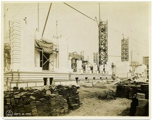 [Exterior marble work : east side.]
