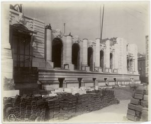 [Exterior marble work : east elevation.]