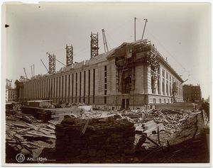[Exterior marble work : southw... Digital ID: 489520. New York Public Library