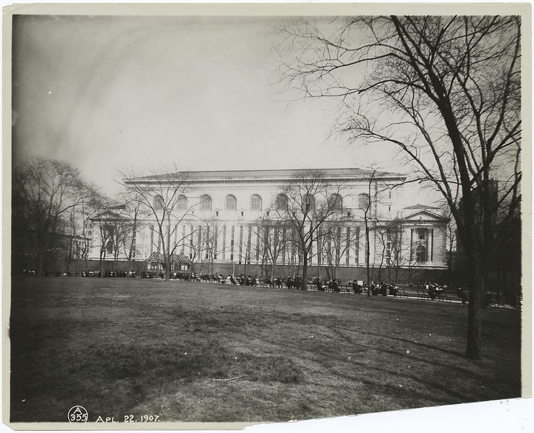 [West facade from Bryant Park.]