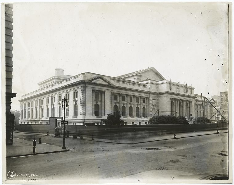 This is What New York Public Library Looked Like  in 1907