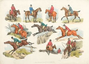 [Mounted sportsmen.]