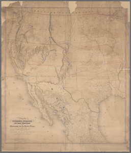 Map of the United States and their territories between the Mississippi and the Pacific Ocean and of part of Mexico.