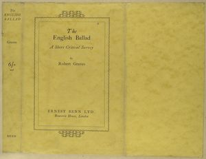 The English ballad, a short critical survey.