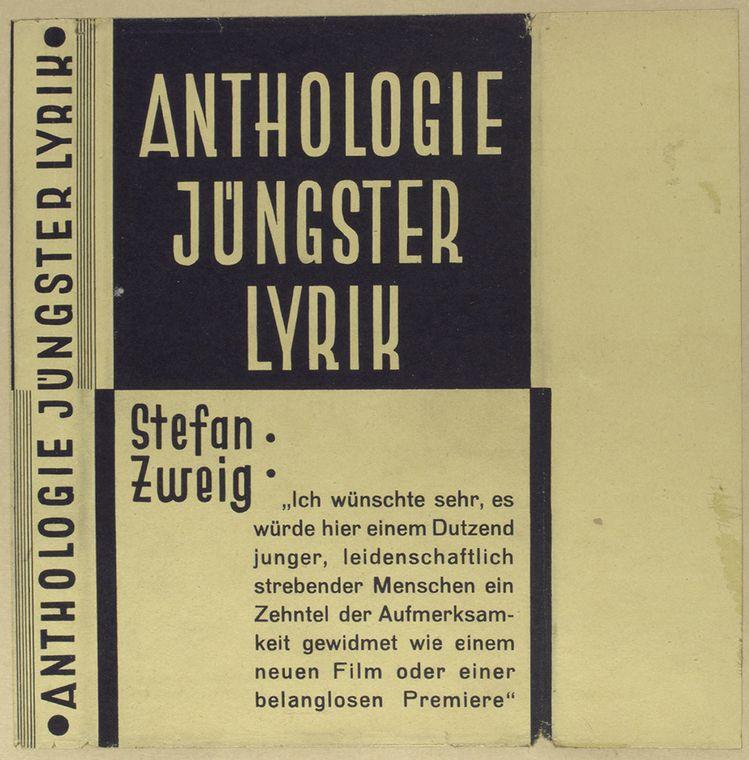 Anthologie jüngster lyrik.