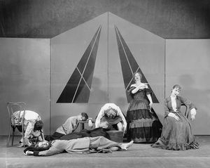 "Scene designed by Kate Drain Lawson for the ""Garrick Gaieties"" (Revue), NYC: 1930."