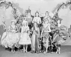 "Chorus girls in the ""Garrick Gaieties"" (Revue). Costumes designed by Henri Pene du Bois."