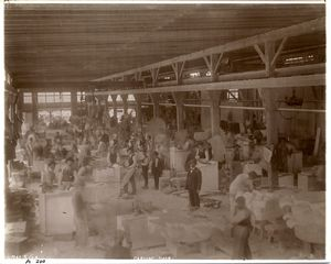 Carving shop, [Port Morris marble yard].