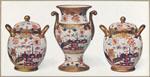 Vase, and two pot pourri