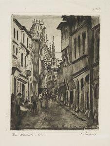 Rue Damiette, à Rouen.