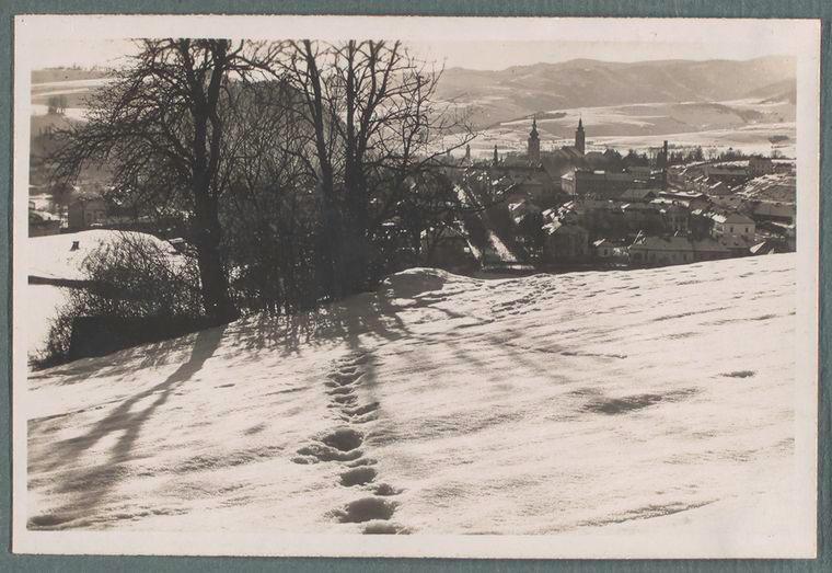[General view of Banska Bystrica in winter.]