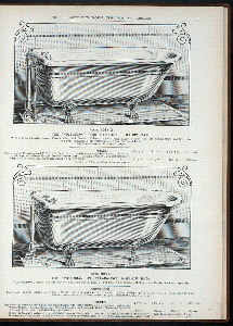 The 'Victorian' porcelain-lined roll-rim bath. Plate 1084-G and Plate 994-G.