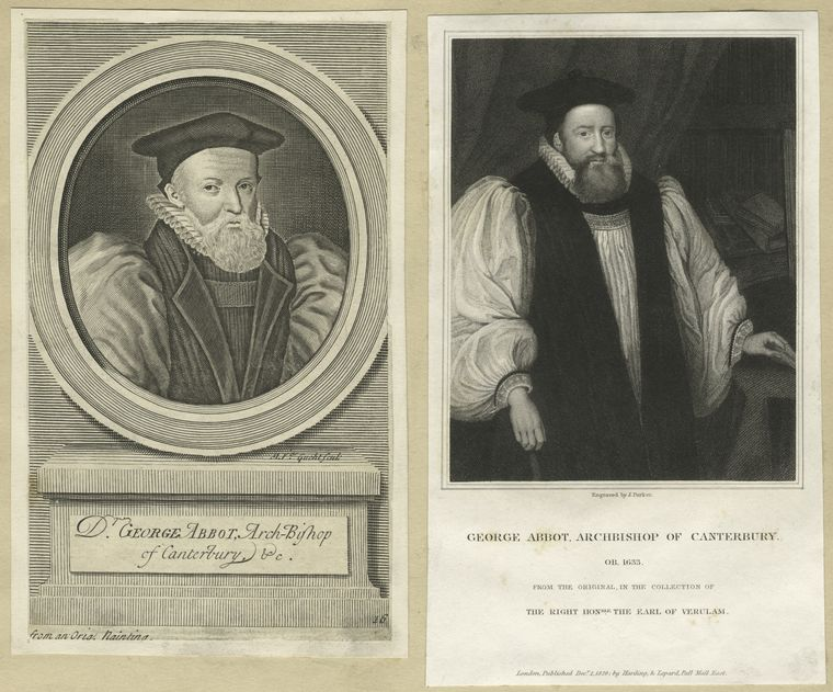 George Abbot, Archbishop of Canterbury [a sheet with three portraits].