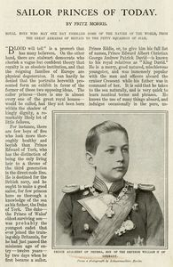 Sailor Princes of today : Prince Adalbert of Prussia, son of the Emperor William II of Germany.