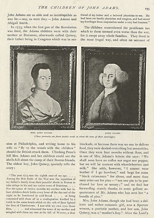 The Children of John Adams : Mrs. John Adams ; John Adams ; Abigail Adams (Mrs. Colonel Smith).