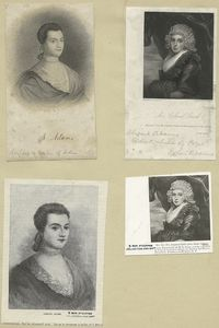 [A sheet with four portraits of Abigail Adams.]