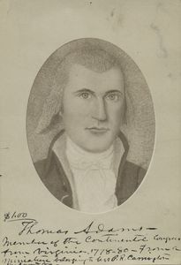 Thomas Adams : member of the Continental Congress from Virginia.