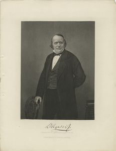 Louis Agassiz, likeness from an approved photograph from life.