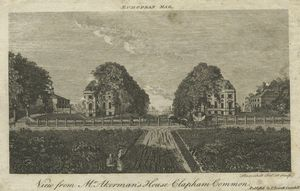 View from Mr. Akerman's house Clapham Common.