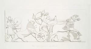 King hunting the lion  (from Nimroud) [Calah].