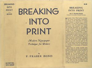 Breaking into print, modern newspaper technique for writers.