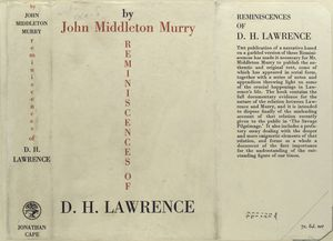 Reminiscences of D. H. Lawrence.