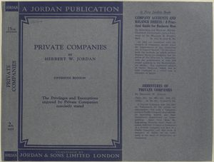 Private companies; the privileges and exemptions enjoyed by private companies concisely stated.