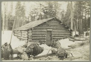 The beaver house, or woods office of a large lumber company.
