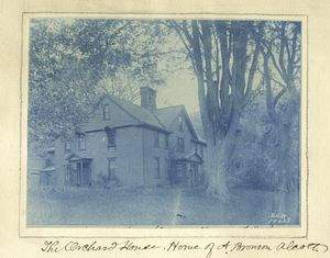 [The Orchard House, home of A. Bronson Alcott.]