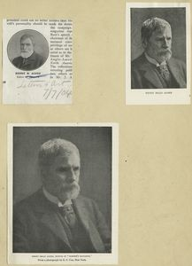 [A sheet with three portraits of Henry Mills Alden.]
