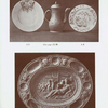 "A1. Lambeth Delft plate, white with S.R.1691 on arms, in cartouche in blue. Diam. 10""; A3. Lambeth Delft plate, with floral decorations in blue, with S.R.1764 in blue. Diam. 9""; A4. Lambeth Delft dish, white and blue, after Palissey. A similar dish in the British Museum is dated 1659. L. 18-1/2""."