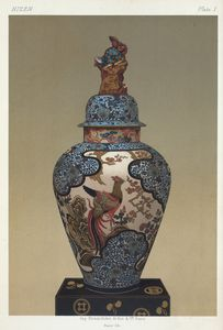 Covered jar, H. 37 in. (Imperial Keramic Collection, Dresden)