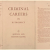 Criminal careers in retrospect