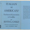 Italian or American? The second generation in conflict.