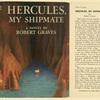 Hercules, my shipmate, a novel.