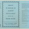 Essays in honor of Albert Feuillerat.