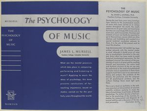 The psychology of music / James L. Mursell.