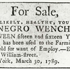 Sale in New York.]