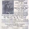 Garvey memorial flyer.]