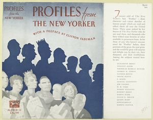 Profiles from the New Yorker / with a preface by Clifton Fadiman.