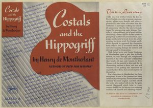 Costals and the the hippogriff / by Henry de Montherlant.