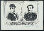 The Archduchess Marie Christine of Austria [and] King Alfonso XII., of Spain.