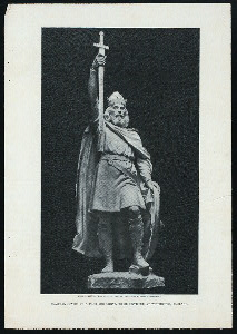 Colossal statue of Alfred the Great, to be unveiled at Winchester, England.