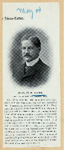 Charles H. Allen, Civil Governor of Puerto Rico.