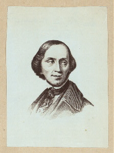 [Hans Christian Andersen. 1 small portrait on a sheet.]