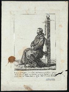 Retrato del regicida Jacobo Juan AnKarstrom, azotado y expuesto por tres dias al público en StocKolmo, y'al fin decapitado.