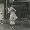 Margaret Sullavan and Brooke Hayward (running away) at the zoo