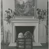 Bridget Hayward and Brooke Hayward facing fireplace